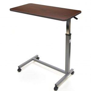 overbed table with castors amaris medical
