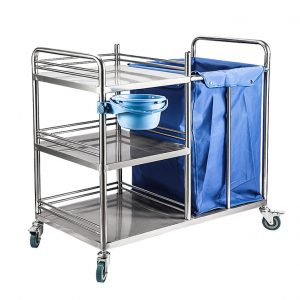 stainless stell medical laundary trolley amaris medical solutions