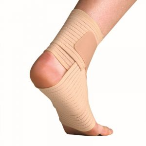 Elastic ankle support with velcro free wrapping amaris medical solutions