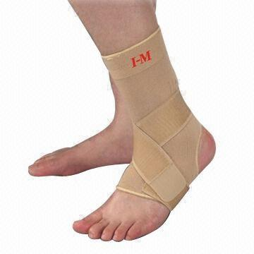 Elastic compression ankle support with silicone anti slip amaris medical solutions