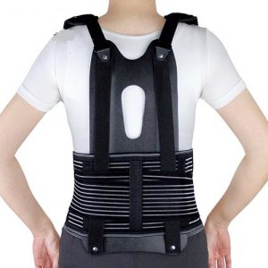 extra shoulder LSO back brace with carbon graphite finish amaris medical solutions